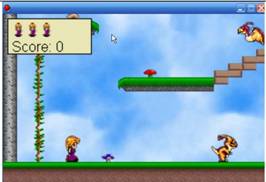 platform game screenshot